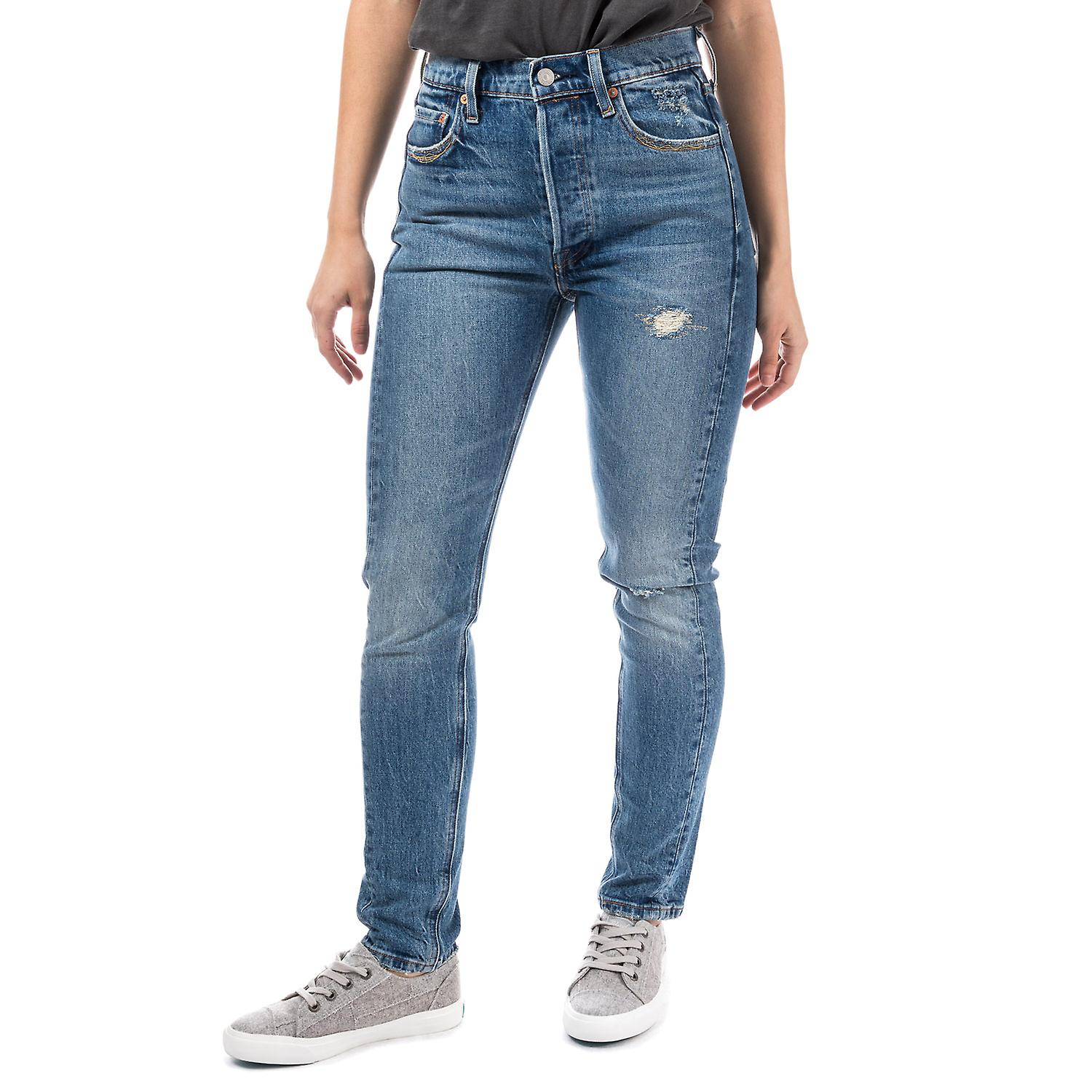 501 Altered Skinny Jeans - forward seam jeans