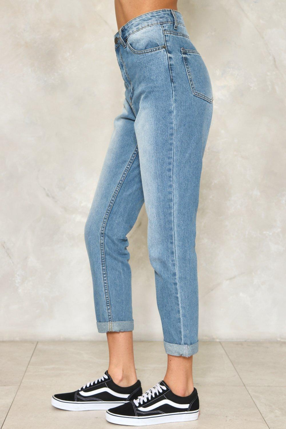 high waist cropped jeans - side view