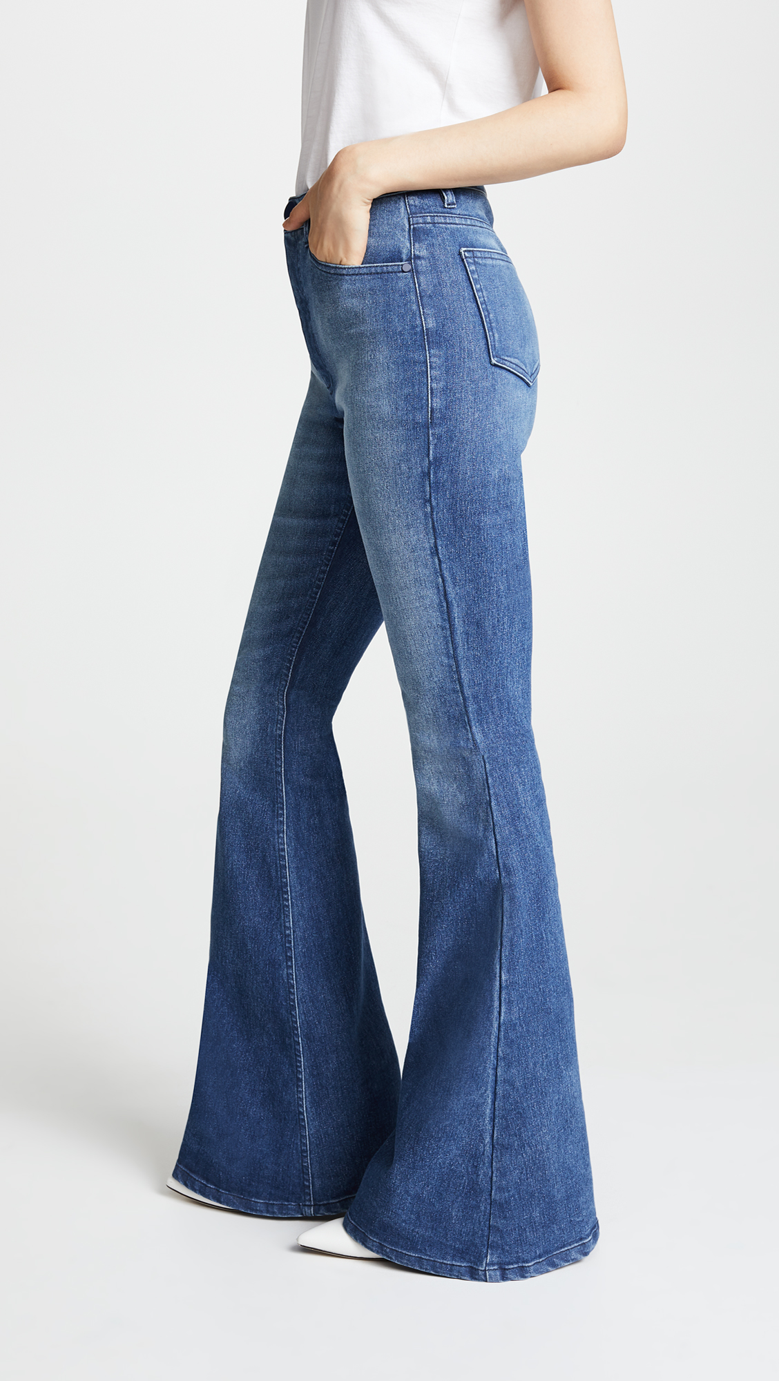 high waist flare jeans - side view
