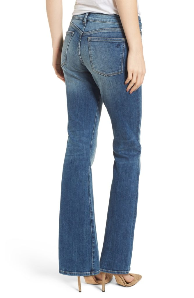 best jeans for ruler body types, jeans with fading on the seat