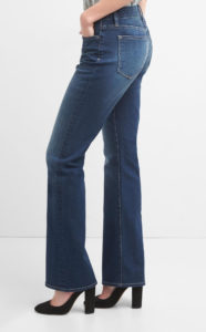 jeans with subtle fading