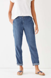 looser fit jeans designed for petites is an option
