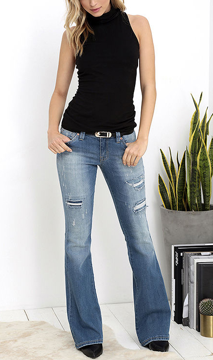 low rise bootcut jeans