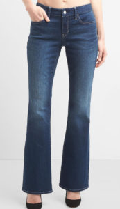 mid-rise moderate flare jeans