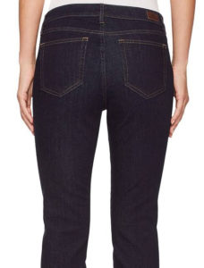 plainer, simple pockets - dark wash jeans