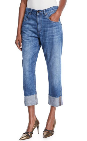 straight leg cropped jeans with heels