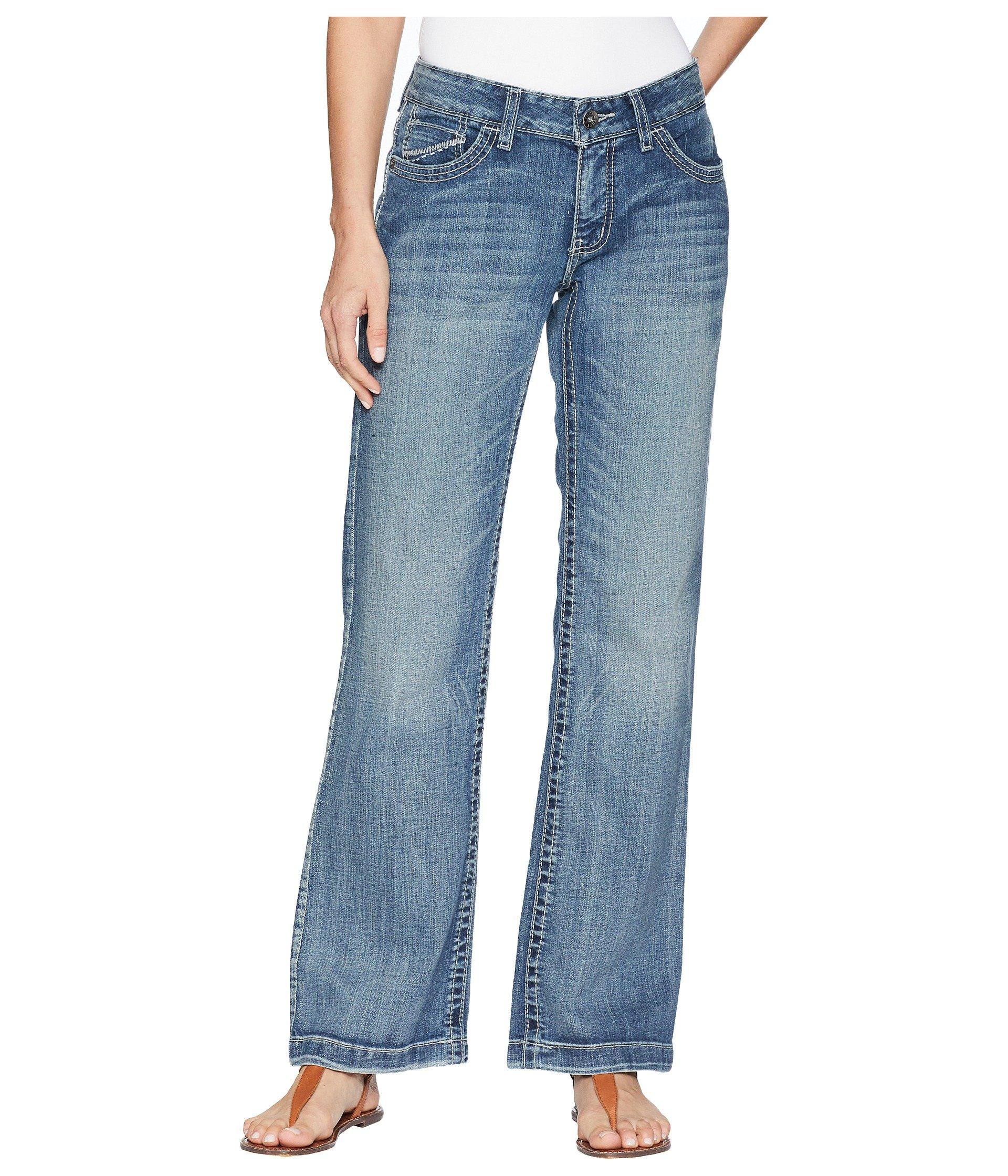 straighter cut wide leg jeans