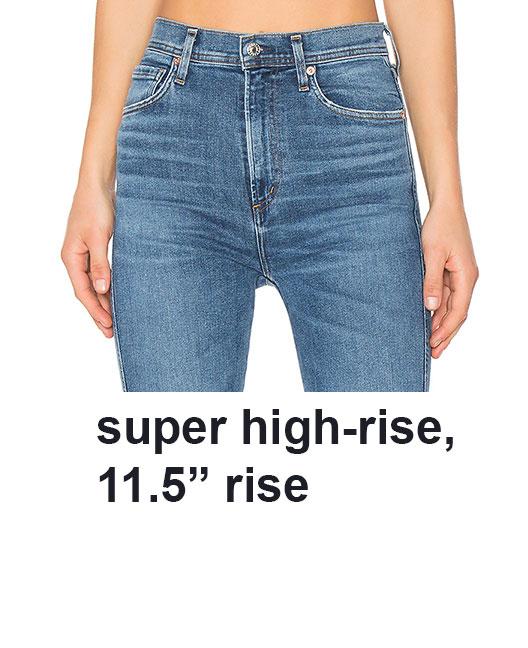 super high rise jeans
