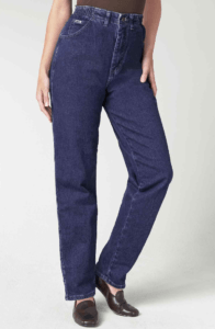 loose fit, high-waist tapered leg jeans