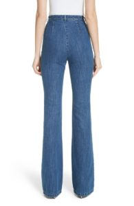 trouser jeans with no back pockets - back view