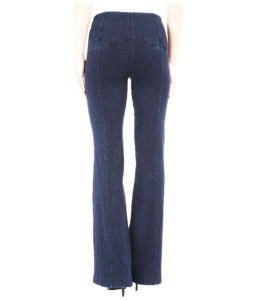 trouser jeans with slit back pockets - back view, lightened for