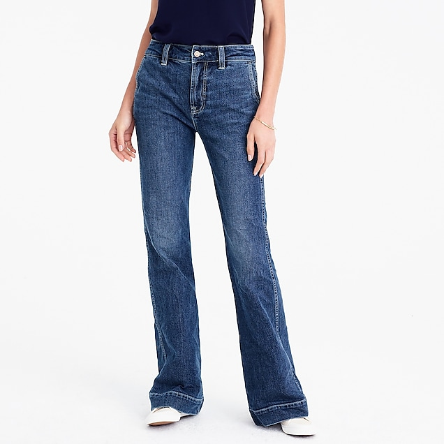 trouser jeans with standard back pockets