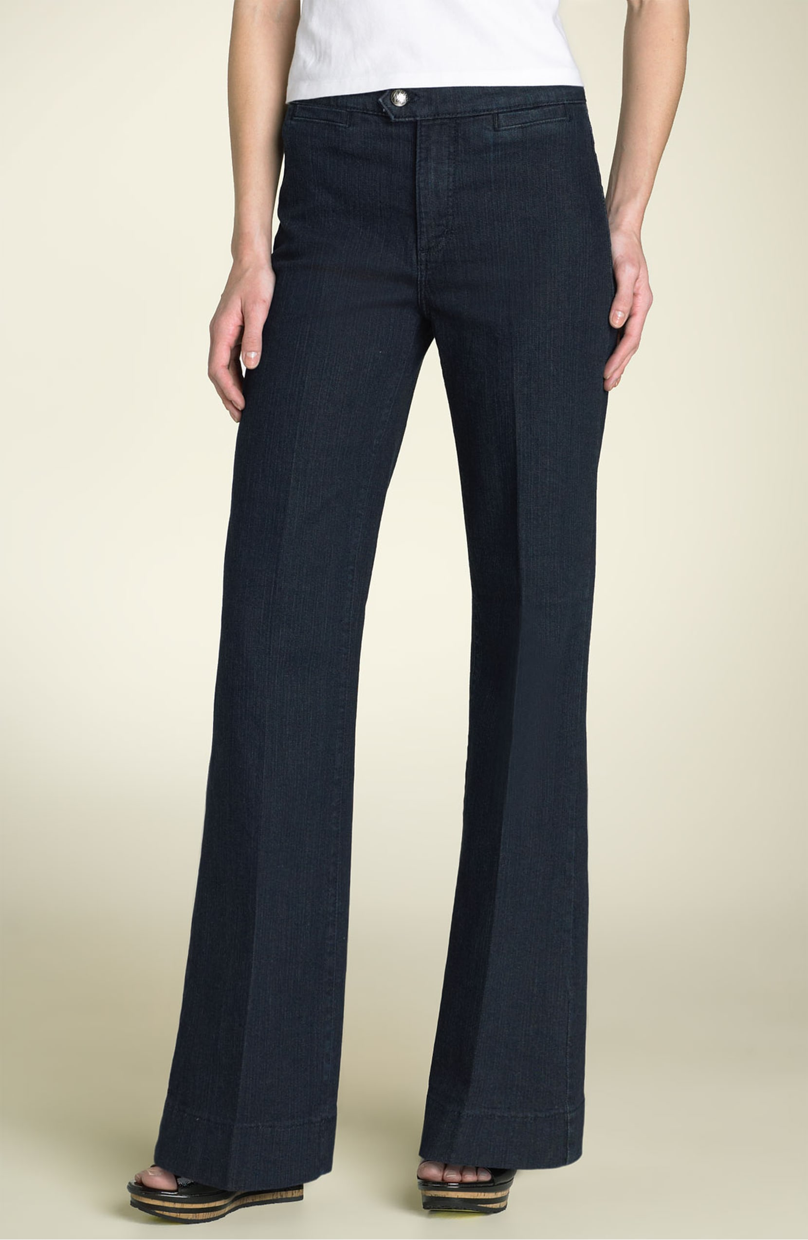 wide leg petite trouser jeans