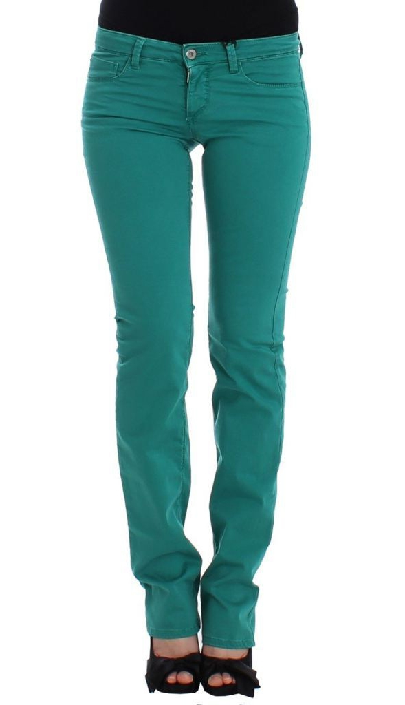 Straight Leg Jeans in Green
