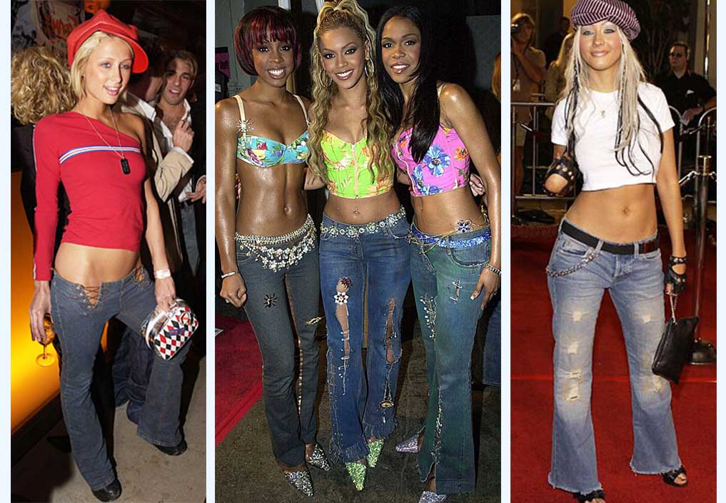 Low Rise Jeans, 2000s pop icons, Paris Hilton, Destiny's Child and Christina Aguilera