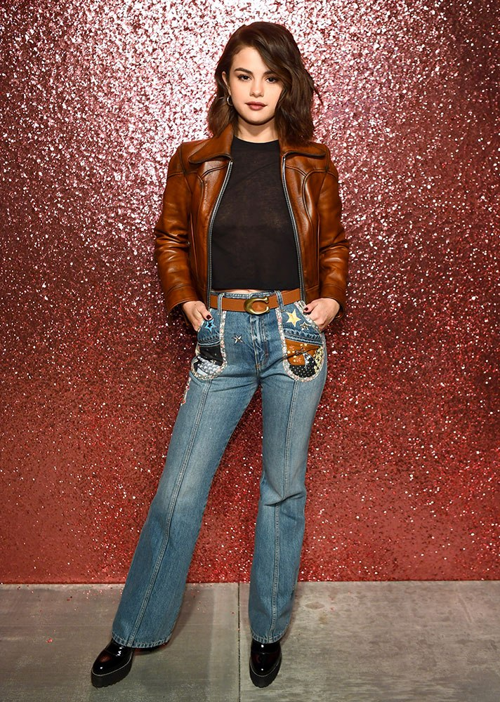 Selena Gomez wearing Bootcut Jeans, bootcut jeans trend coming back