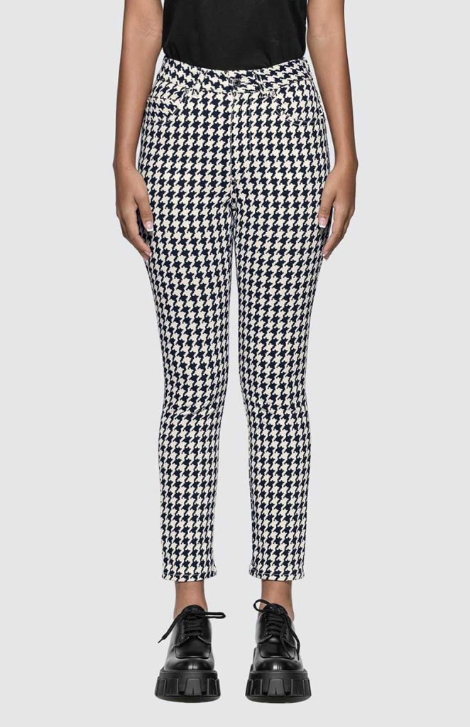plaid jeans, houndstooth jeans, checkered jeans, checkerboard skinny jeans, check jeans, checked jeans