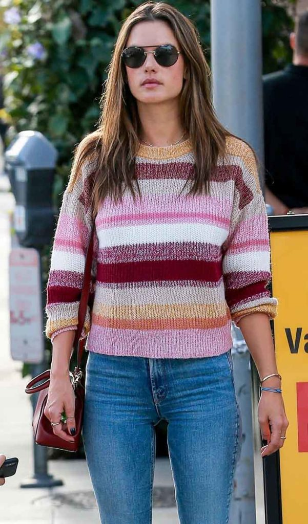 Mother The Insider Crop Jeans Outfit, OutfitID, Alessandra Ambrosio, OutfitID