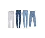 Checkered Jeans & Plaid Jeans in 12 Dazzling Styles
