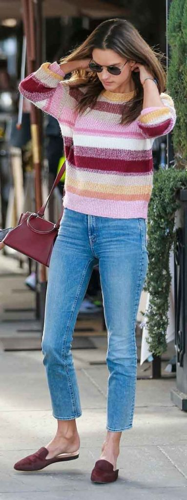 alessandra ambrosio, cropped jeans outfit, outfit id, steal her style, get the look