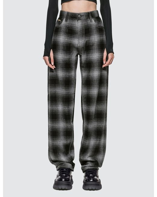 plaid jeans, print jeans, checkered jeans,