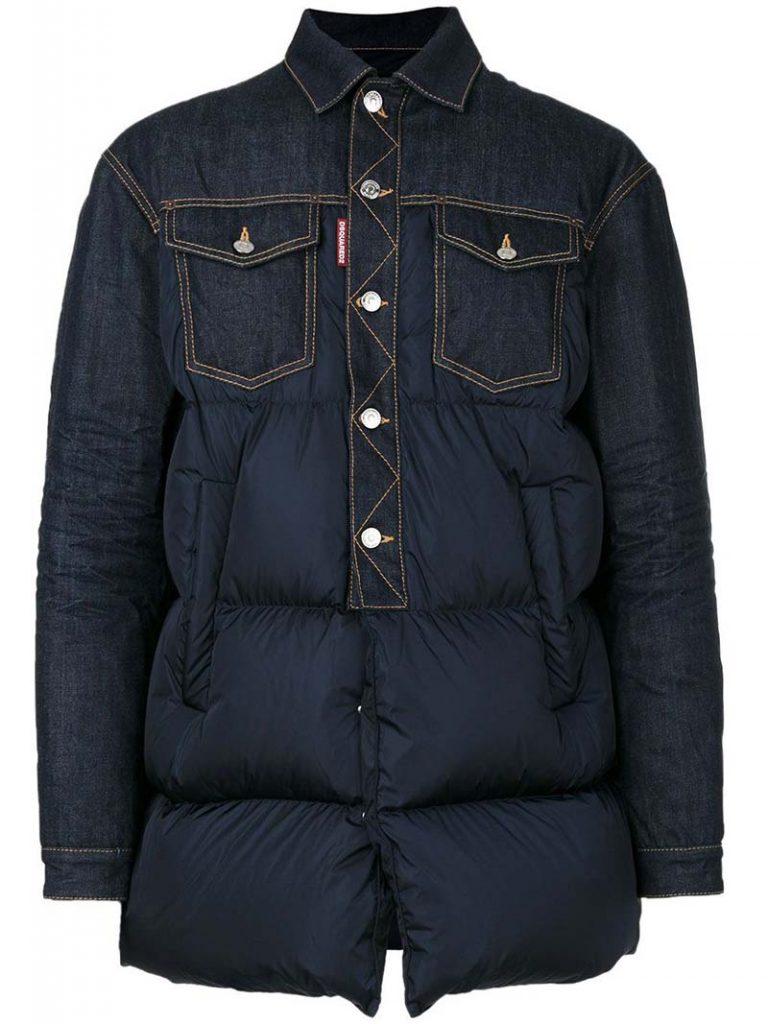 kaia gerber style, denim puffer jacket, denim puffer coat, denim jacket, jean jacket, get the look, steal her style, outfit id, Denim Puffer Jacket, outfitid