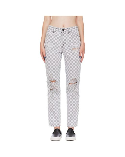 checkerboard ripped jeans, checkerboard jeans, checkered jeans, check jeans, checked jeans