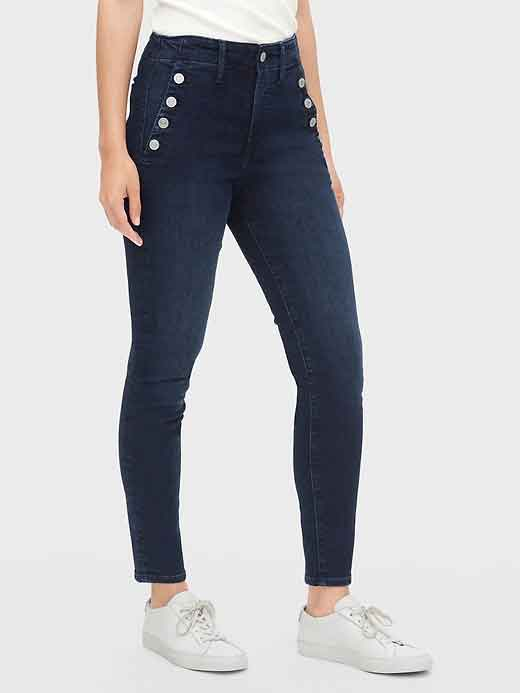 womens jean styles, sailor jeans, skinny jeans