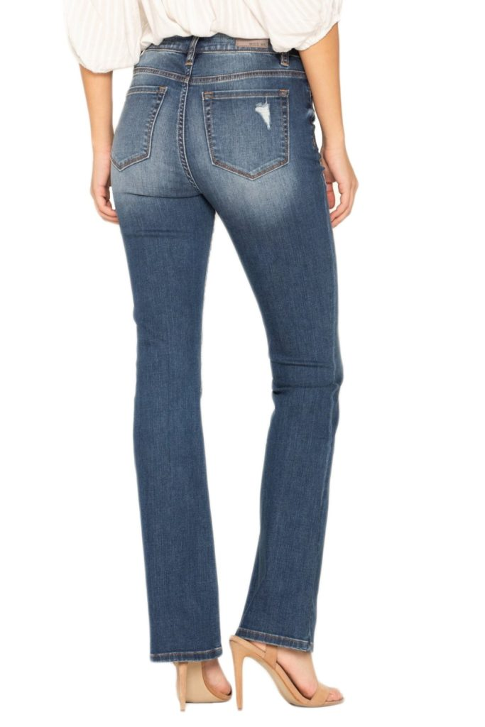 best jeans for a rectangle body shape, best jeans for a ruler body type, Miss Me Jeans