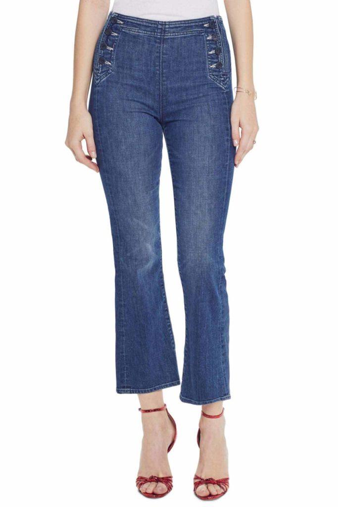 womens jean styles, MOTHER The Sailor Tripper Jeans, sailor jeans, crop jeans,
