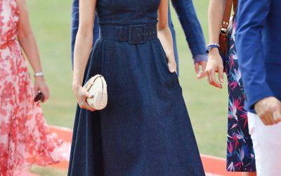 denim dress, denim tea dress, Meghan Markle, Duchess of Sussex wearing a denim tea dress