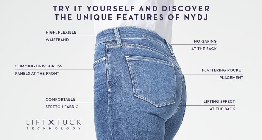 NYDJ, Not Your Daughters Jeans, Lift tuck Technology