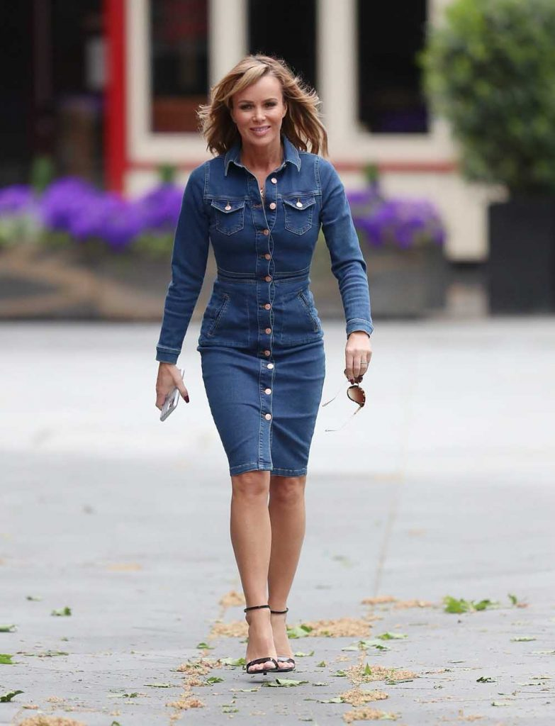 denim dress, Amanda Holden