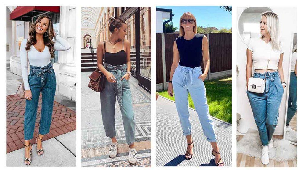 paperbag jeans, instagram fashion