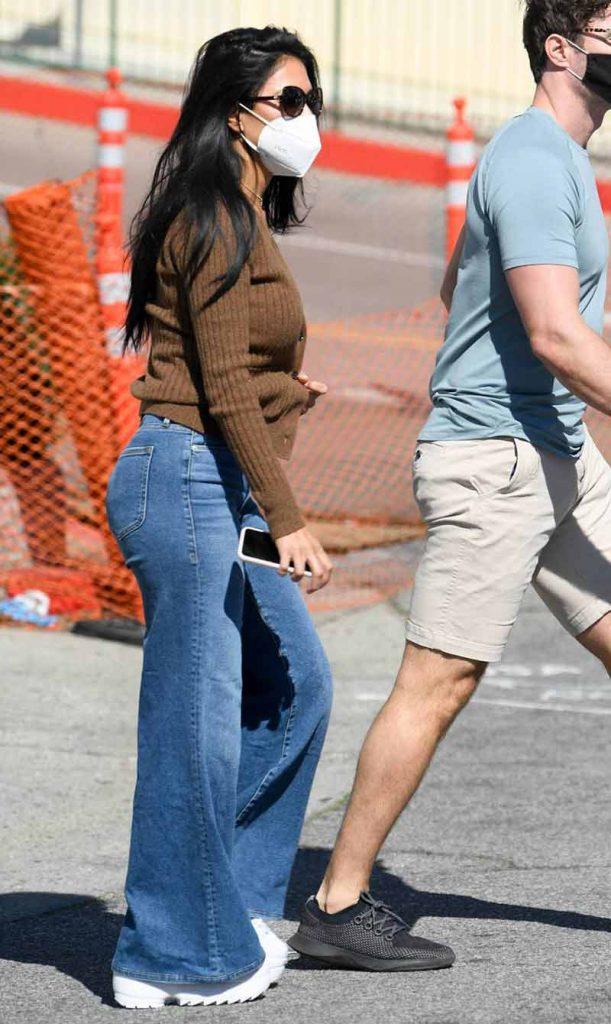 wide leg jeans, Nicole Scherzinger