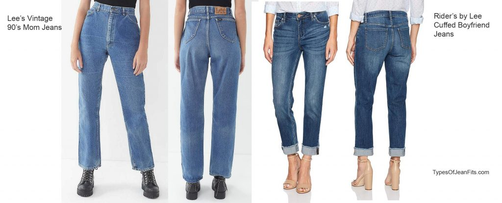what's the difference between mom jeans and boyfriend jeans, lee jeans