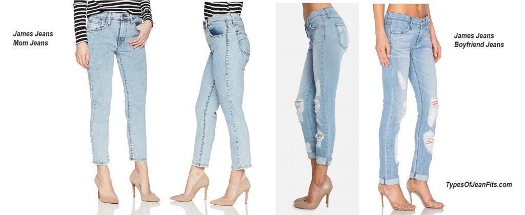 boyfriend jeans vs mom jeans, james jeans