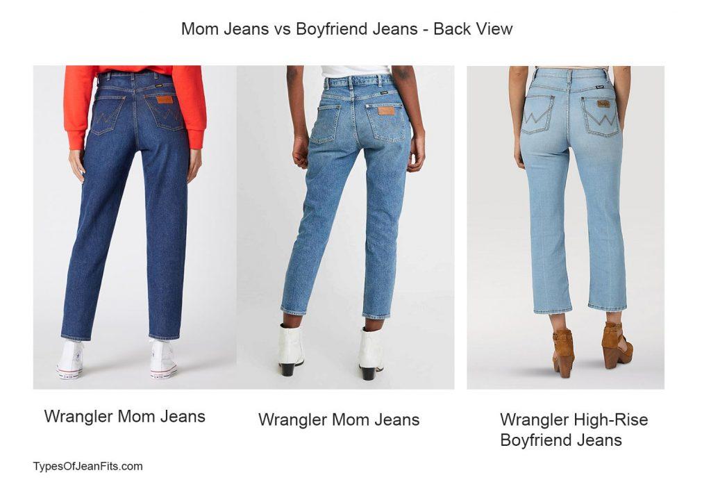mom jeans vs bf jeans, wrangler jeans