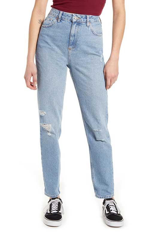 mom jeans vs bf jeans, boyfriend and mom jeans